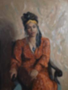 Sinead in Orange Dress