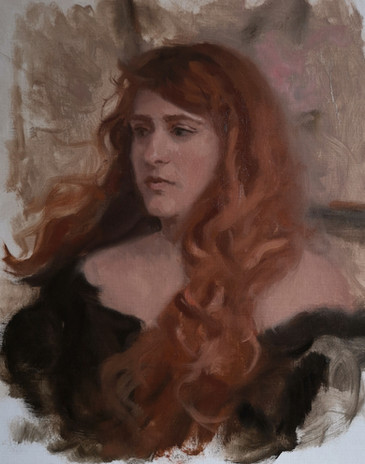 Lady with red hair