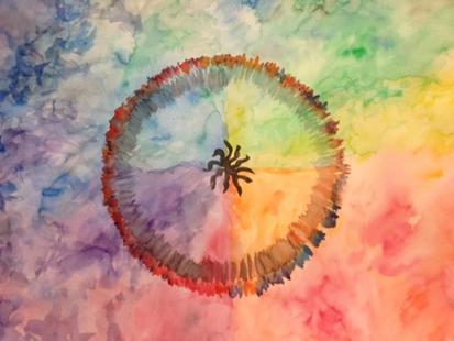 Quartered Color Wheel