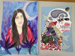 Watercolor and Symbolic Self Portrait