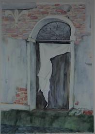 Venice backwater doorway