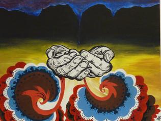 High School Student Work, Acrylic on canvas