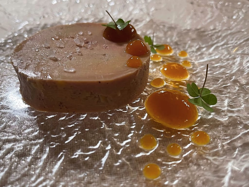 Foie gras al whisky torbato scozzese dello chef Bernard Fournier
