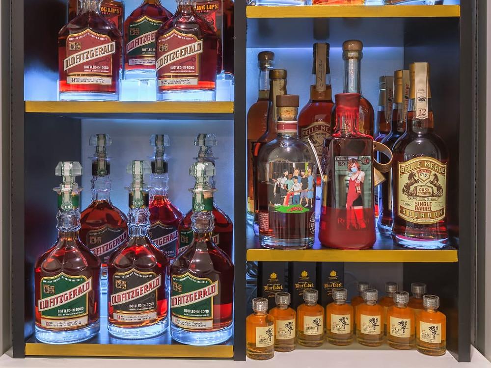 Alcune bottiglie di Bourbon della collezione di Giuliano Tornusciolo