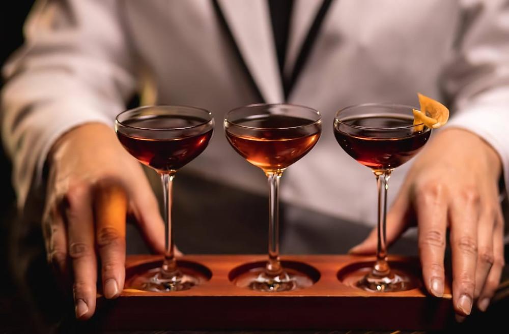 A Manhattan Fligh cocktail