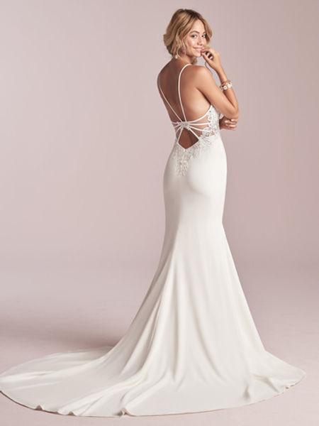 Vestido novia espalda descubierta