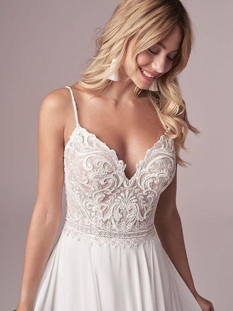vestido de novia tirantes línea a