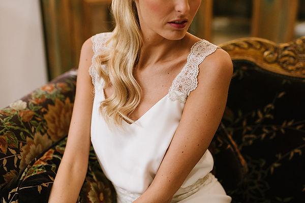 traje de novia dos piezas mallorca