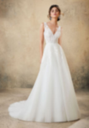 vestido de novia escote V en mallorca