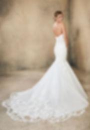 vestido de novia corte sirena y escote corazón