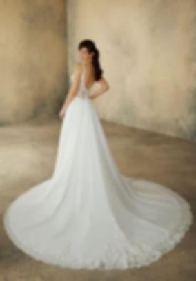 vestido de novia con cola en mallorca