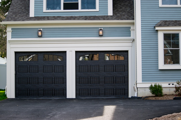 Garage Door Painted in Black Color for