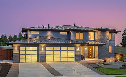 Beautiful Exterior of New Luxury Home.jp