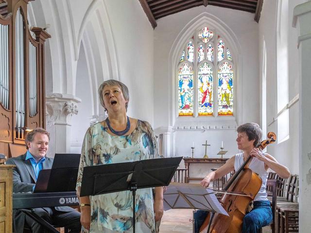 Ridgeway Ensemble performing at St Mary's, Pitstone