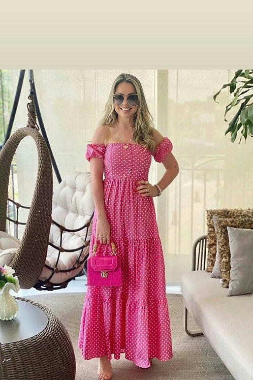 Vestido Tricoline Poá