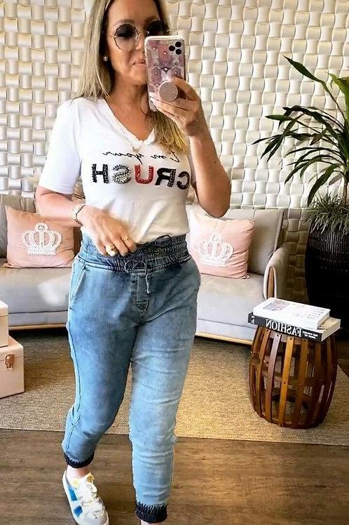 Calça Moletinho Jeans