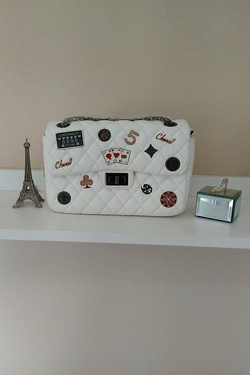 Bolsa Chanel Inspired com Patchês