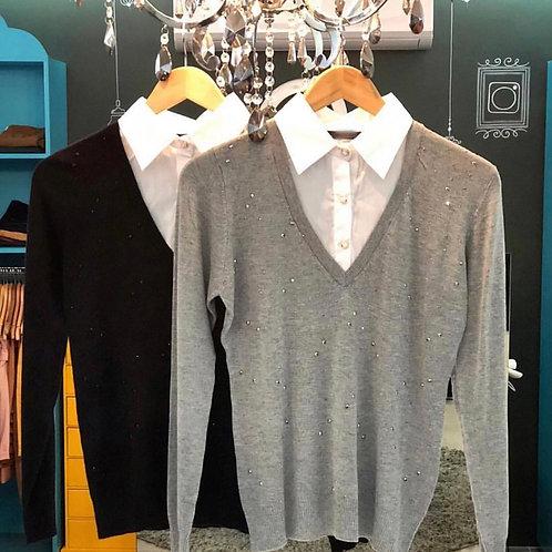 Tricot Gola Camisa