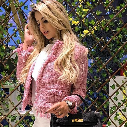 Casaqueto Estilo Chanel Tweed com Franja