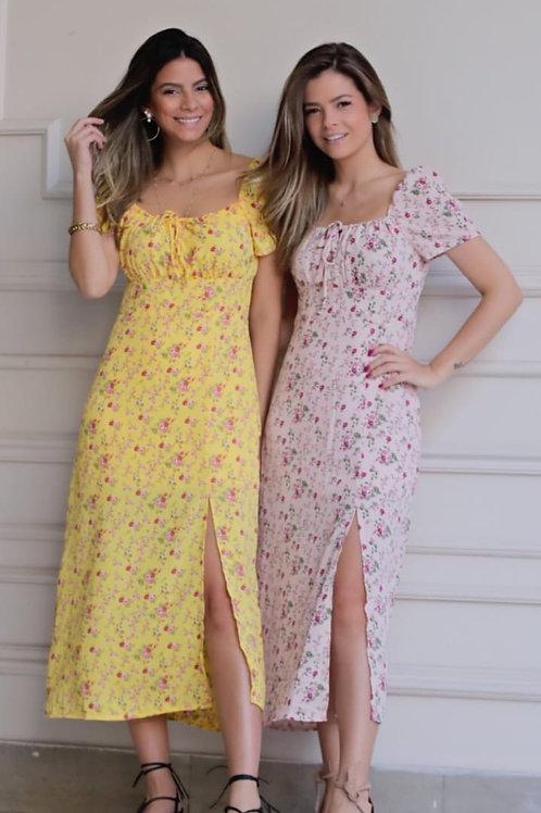 Vestido Floral Manguinha