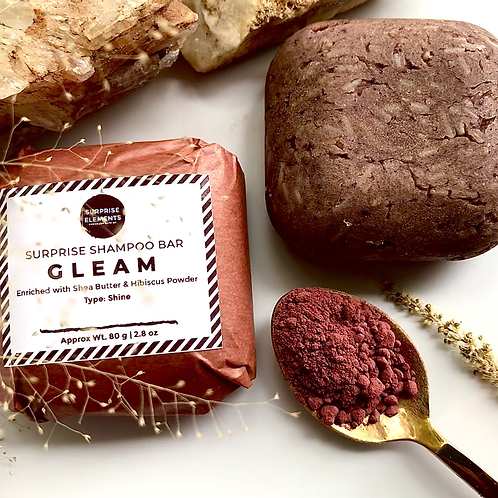 Gleam Shampoo Bar   Enriched with Hibiscus Powder for Sleek and Shiny Hair