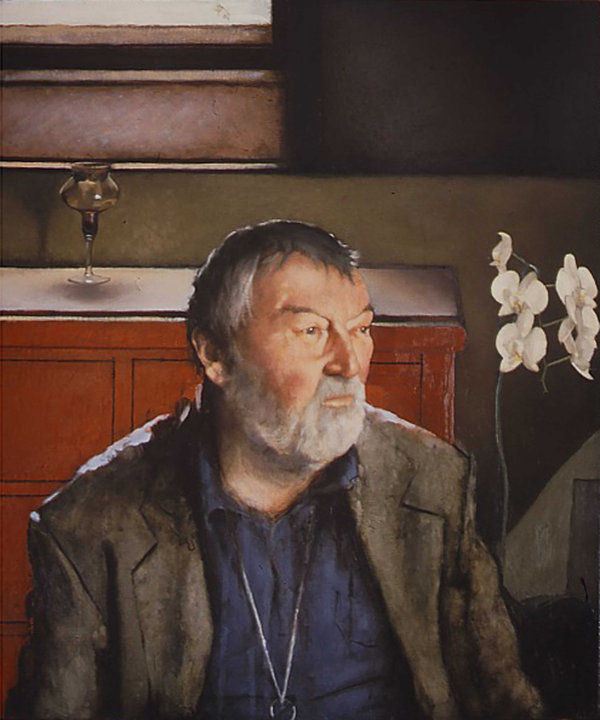 John Fowles,Oil on linen,     NPG collec