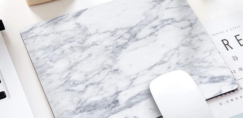 Marble Office Desk Mouse Mat Office Desk Accessories 220x180x3mm