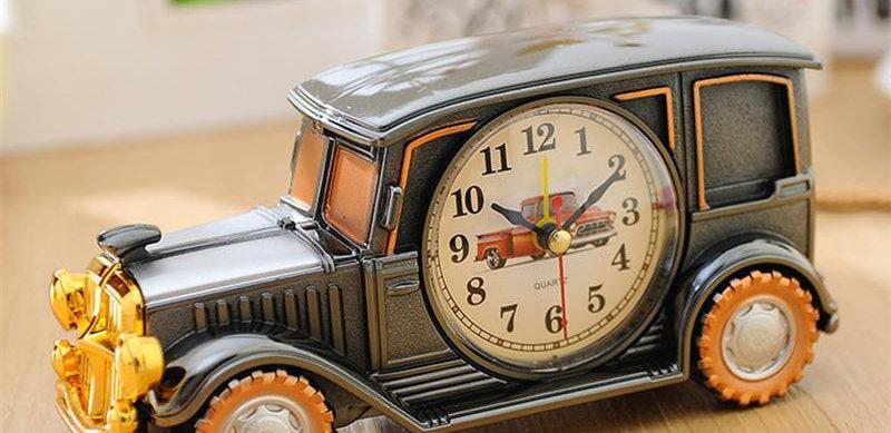 Vintage Car Shape Clock Retro