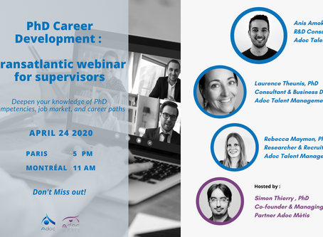 PhD Career Development: A Transatlantic Webinar for Supervisors