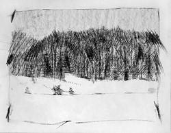 Lac Génin sous la neige