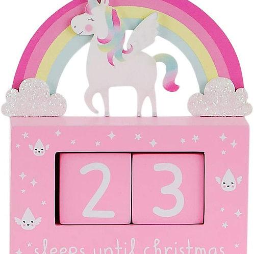 Rainbow Unicorn Countdown Blocks