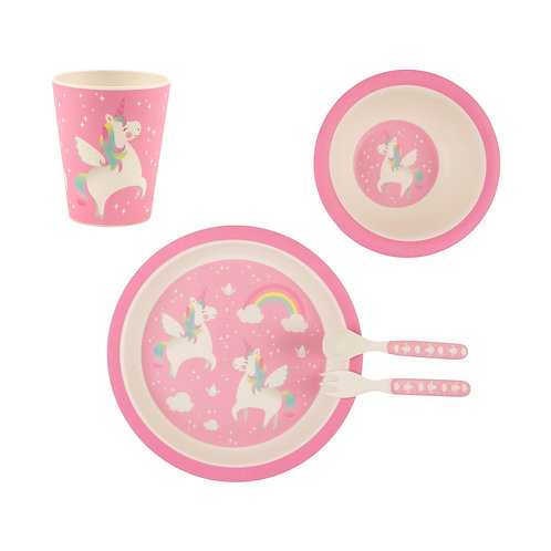 Rainbow Unicorn Tablewear set