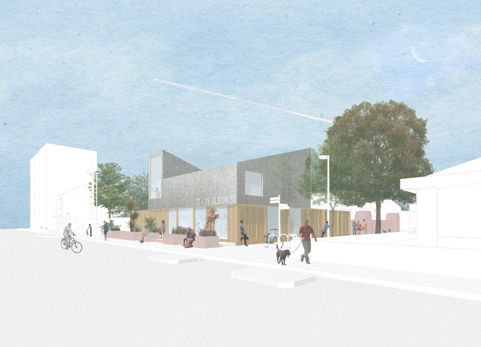 71 - 75 Albion Street | Demountable temporary new build | Low cost workspace | Skill sharing | Share
