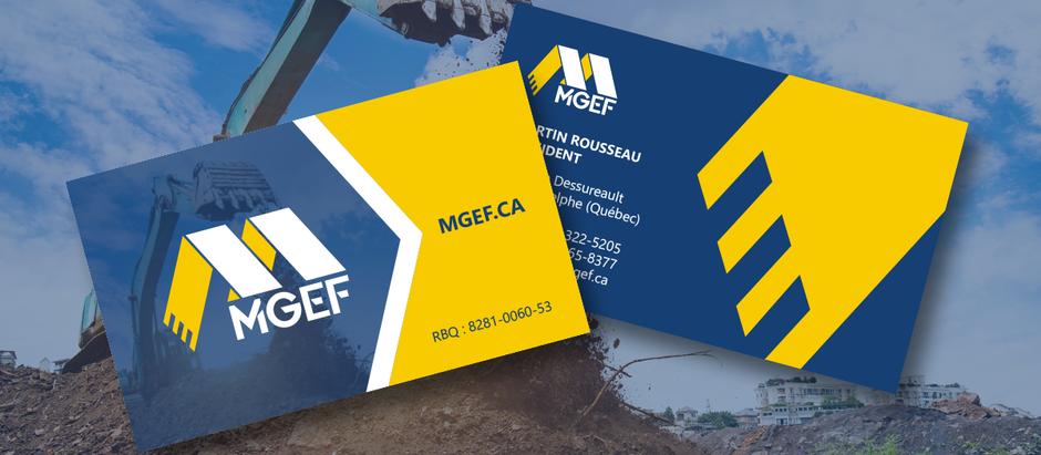 De nouvelles cartes d'affaires pour l'entreprise MGEF de Saint-Adelphe