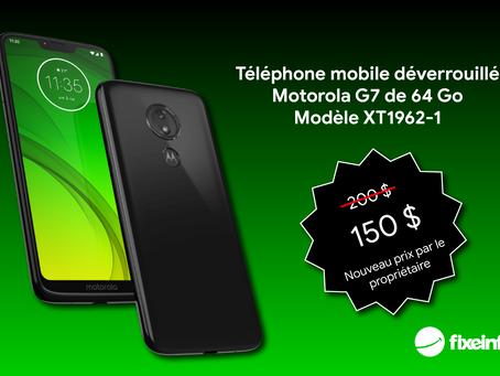 Baisse de prix! Téléphone Motorola G7 en parfaite condition.