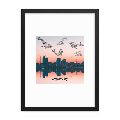 Le Balene - Framed poster