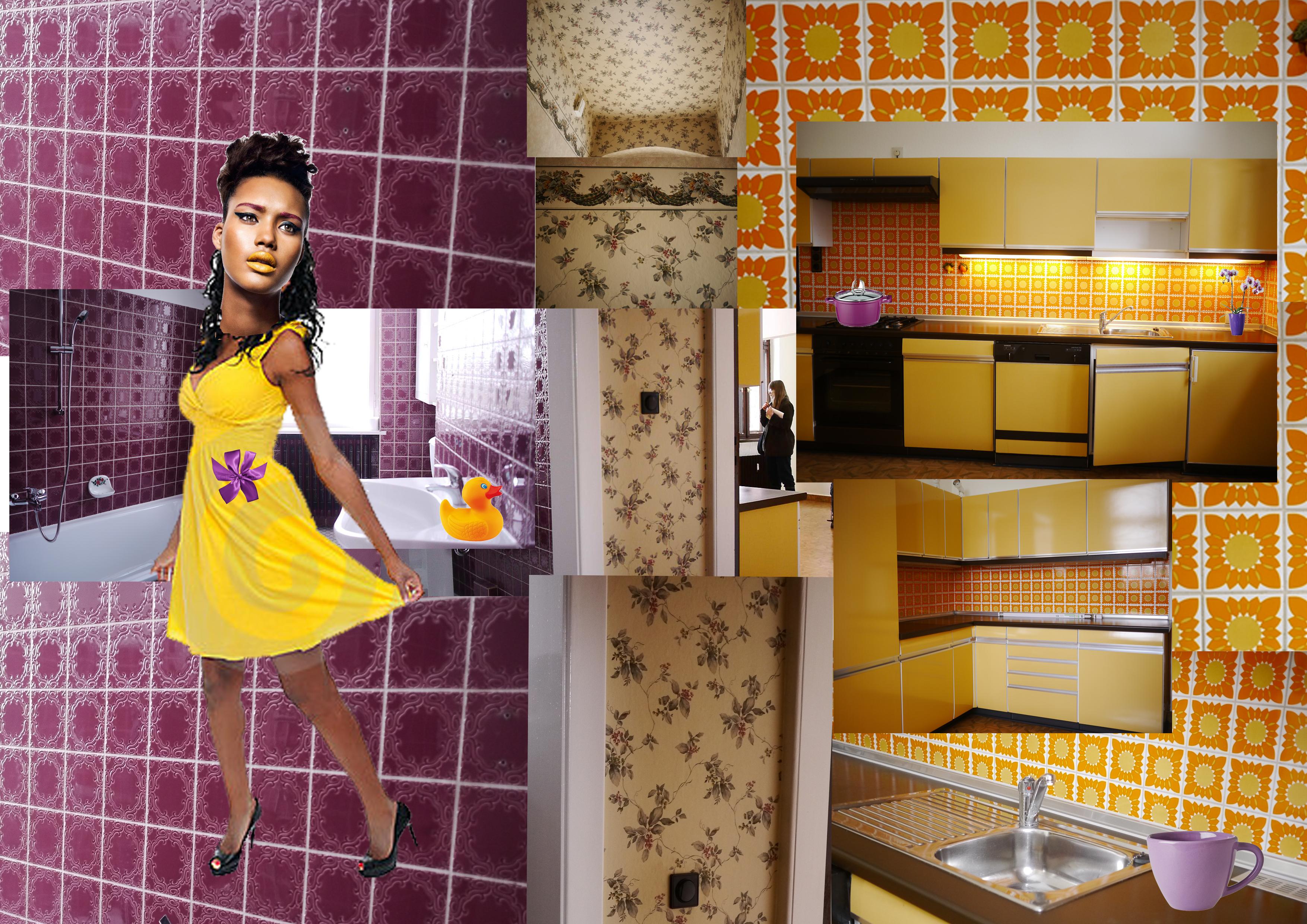 Collage für Szenenbild und Kostümbil