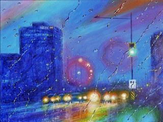 A conversation between rain & light