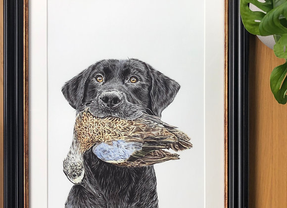 Dog & Duck Print