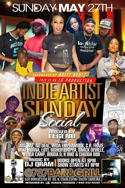 Indie Artist Sunday Social May 29 2018.j