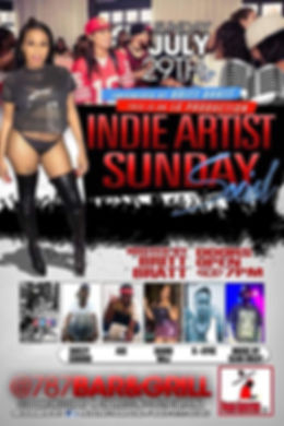 Indie Artist Sunday Social July 29 2018.