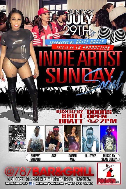 Indie Artist Sunday Social July 29 2018.