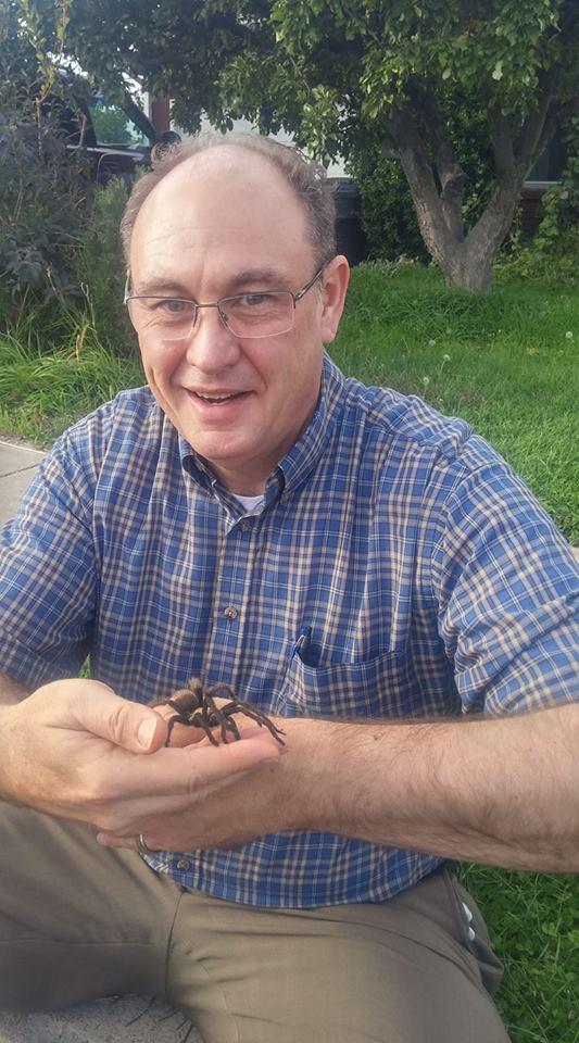 Sid with wild tarantula