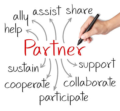 business hand writing partner concept_ed