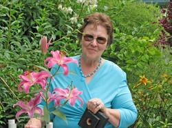 Enjoying the lilies (1)