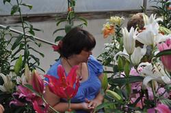 Enjoying the lilies (7)