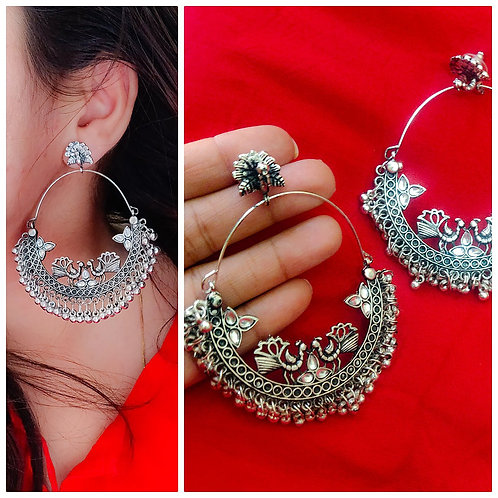 High Quality Oxidized Earring