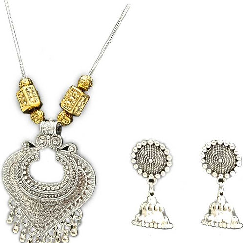 High Quality Oxidized Necklace Earring