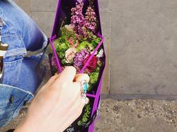 Double denim and a libertys flower errand