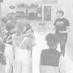 Coach Kate teaching beginners